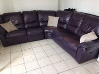large corner sofa unclips reclines