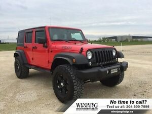 2016 Jeep Wrangler Unlimited Willy's 4x4 w/Lift  Rims *ONLY 5100