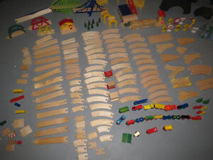 HUGE LOT OF BRIO WOODEN TRAIN TRACKS, TRAINS AND MORE! Peterborough Peterborough Area image 5