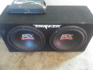 mtx 12 inch terminator and amp