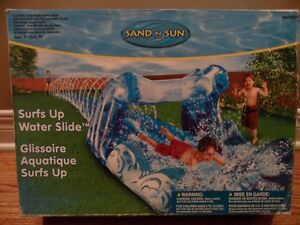 SAND N SUN SURFS UP WATER SLIDE WITH POOL AND INFLATABLE TUNNEL
