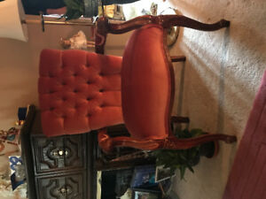 Rose accent chair. In the xcellent condiments.