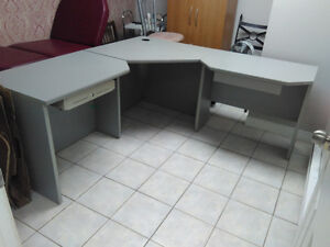 3 Piece Wood Desk