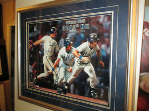 George Brett Autographed 3000 Hit Framed 16 x 20 - Steiner