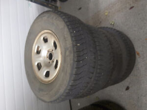 Winter tires and rims nissan xterrra 265 70R 16