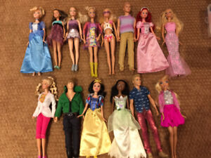 Barbie Dolls and Clothing Accessories