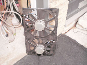Twin cooling fans