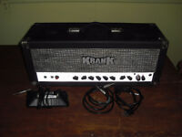 Krank early Rev Revolution 100 Watt tube amp amplifier head NICE