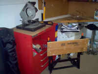 8'' mitre saw,work-mate,tool chest