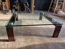 Italian Glass coffee table - used
