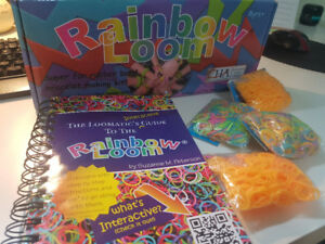 GENTLY USED: Rainbow Loom and accessories