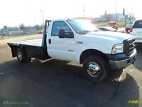 2006 Ford F-350--FLAT DECK--FIFT WHEEL READY-- ONLY 122,000KM