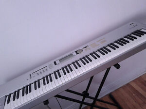 Korg Triton Le 88 weighted keys + Roland pedal + Keyboard stand