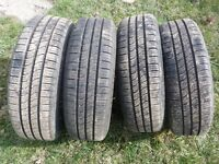 4 Summer Tires with 4 hole Honda rims