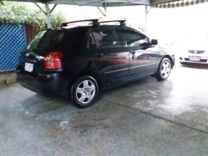 2006 Toyota Corolla Rwc and registration