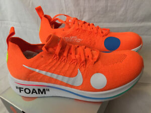 Nike Zoom Fly Mercurial Off-White Total Orange size 9
