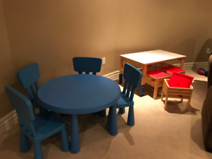 Child's play tables