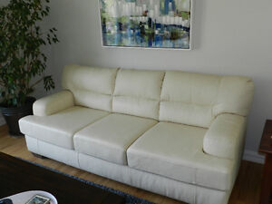 REDUCED Leather couch for sale