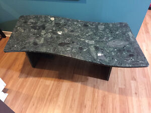 Solid marble table