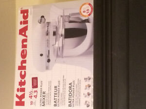 New in box red Kitchen aid mixer
