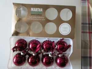CHRISTMAS GLASS  ORNAMENTS  BY  MARTHA  STEWART