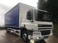 2013 63 DAF CF 65.250 sleeper cab, 26ft curtainsider, underslung tail-lift,