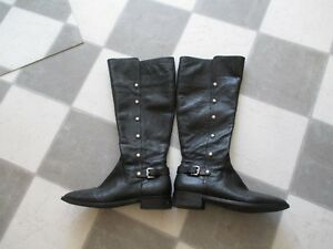 MK leather tall boots
