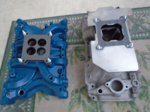 Aluminum four barrel intake manifolds  for sale or trade