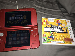 Red New 3DS XL and New Mario Bros 2