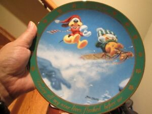 """Collectible Garfield Plate Dear Diary """"Today, All My Nine Lives"""