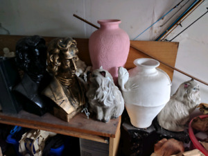 Porcelain and Ceramic pieces stands, animals etc