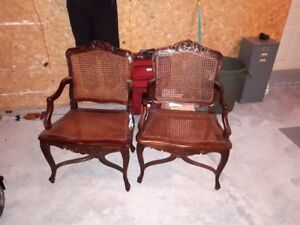 nice cane back and seat chairs