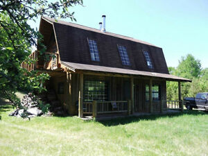 Hand Crafted Log Home Camp Cottage Sweet Mountain NB