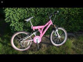 """Girls Pink """"STORMER"""" Bike, 13"""" frame, 20"""" wheels Gel saddle"""