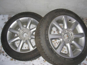 215/55R17 OEM MAXIMA RIMS AND MICHELIN WINTER TIRES (2 ONLY)