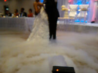 wedding services / dry ice machine / uplighting