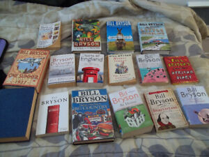 Bill Bryson book lot of 16 titles