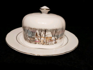 Vintage Butter dish by Currier & Ives (Scalloped) AVON