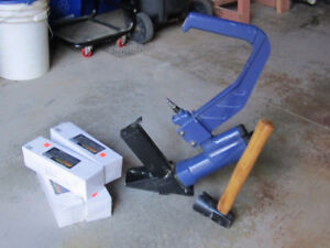 15 gauge flooring nailer with staples