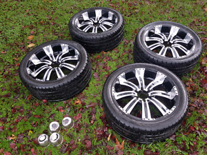 """Price Reduced 22"""" Rims and tires $800 obo"""