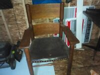 ANTIQUE   CAPITAINE  CHAIR   FROM  1870   YEAR