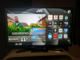 """43"""" SMART JVC FREEVIEW TV WITH WIFI APPS AND REMOTE WE DELIVER PLEASE"""