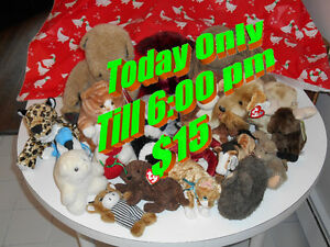 Twenty As-New Stuffed Toys in Various-Sizes for $20