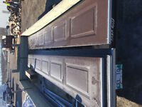 Used insulated 7'x16' garage door for sale