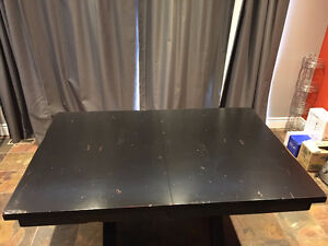 Solid wood black dining table (custom made)