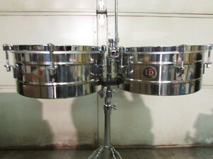 """LP Tito Puente Timbales - 14"""" & 15"""" Stainless Steel"""