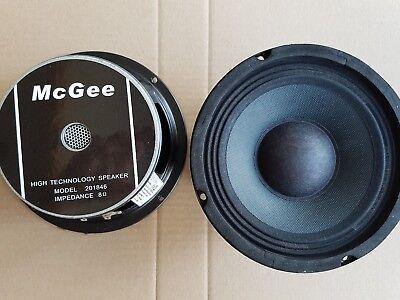 """2x McGee 16cm 6,5"""" PA-Subwoofer Bass Lautsprecher Tieftöner 165mm"""