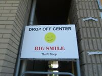 BIG SMILE thrift shop donation center is open