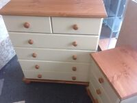 Chest of Drawers and Bedside Drawer