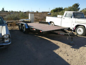 2018 demo 16 foot twin axle auto trailer with concealed ramps